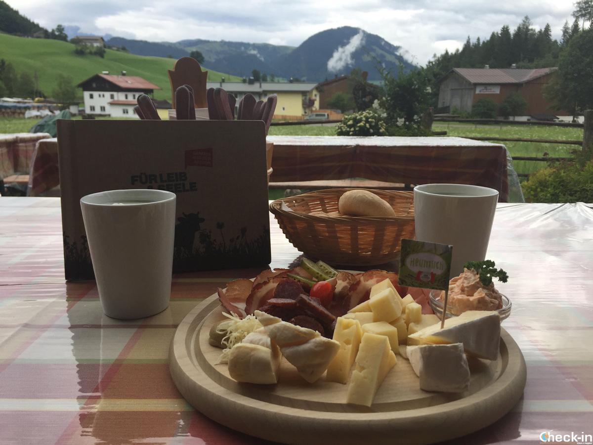 Degustazione dei formaggi Wilder Käser a Kirchdorf - Tirolo, Austria