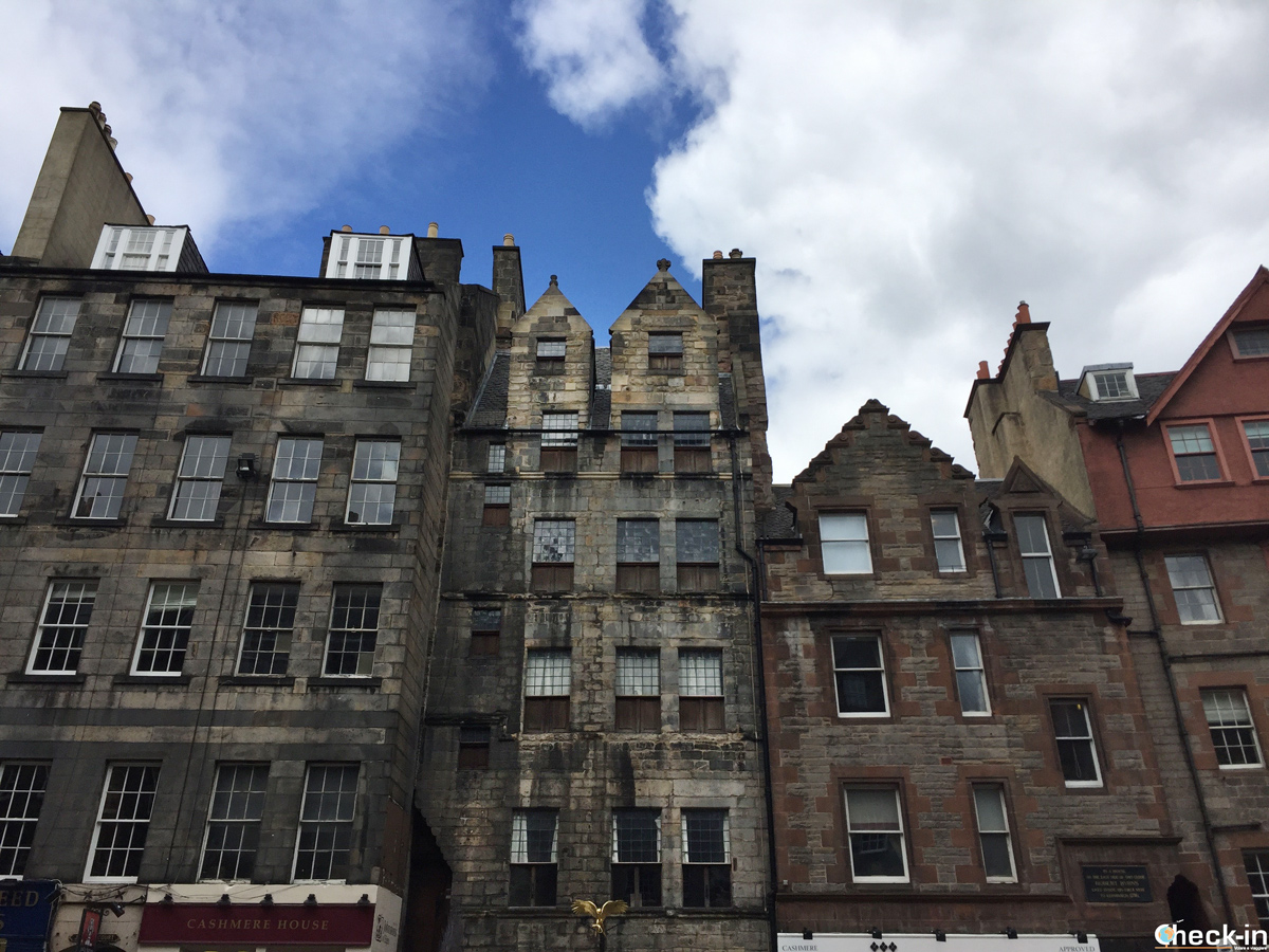 Gladstone's Land in Lawnmarket lungo il Royal Mile di Edimburgo