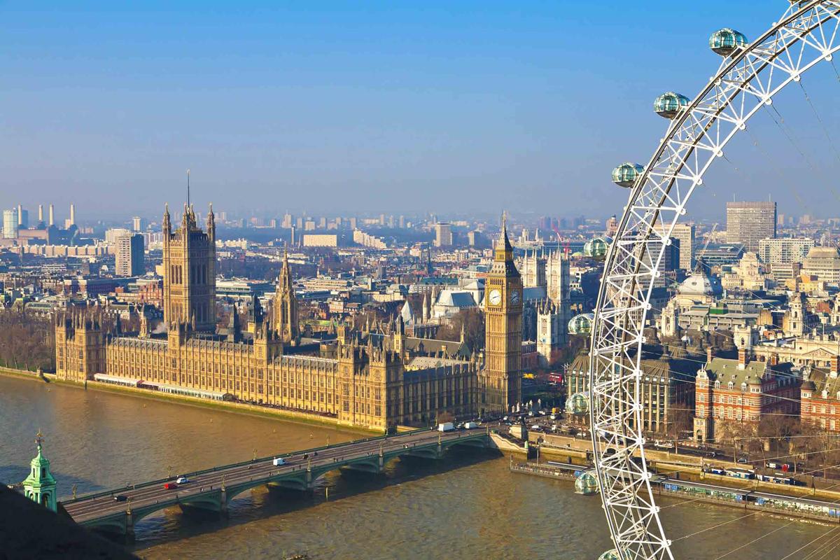Londra dall'alto a bordo della London Eye