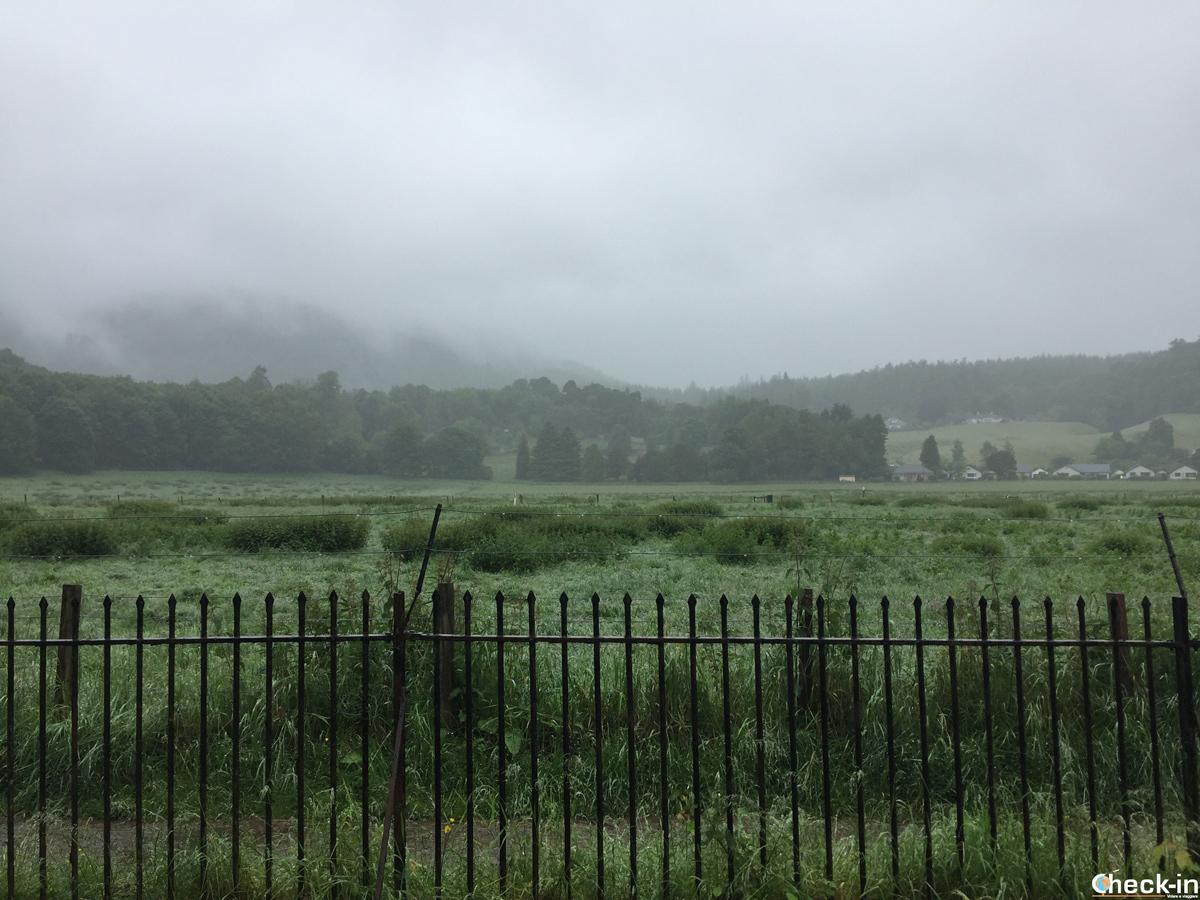 Il campo dove si svolse la battaglia di Dunkeld durante la prima rivolta giacobita