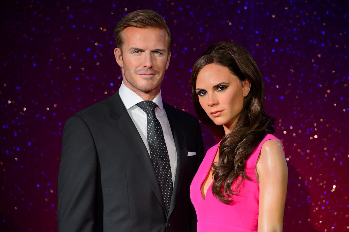 David e Victoria Beckham al Madame Tussauds di Londra (Regno Unito)