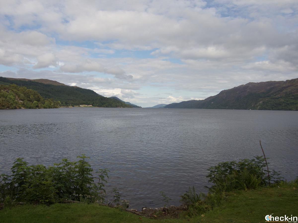 Panorama su Loch Ness a Fort Augustus - Highlands, Scozia