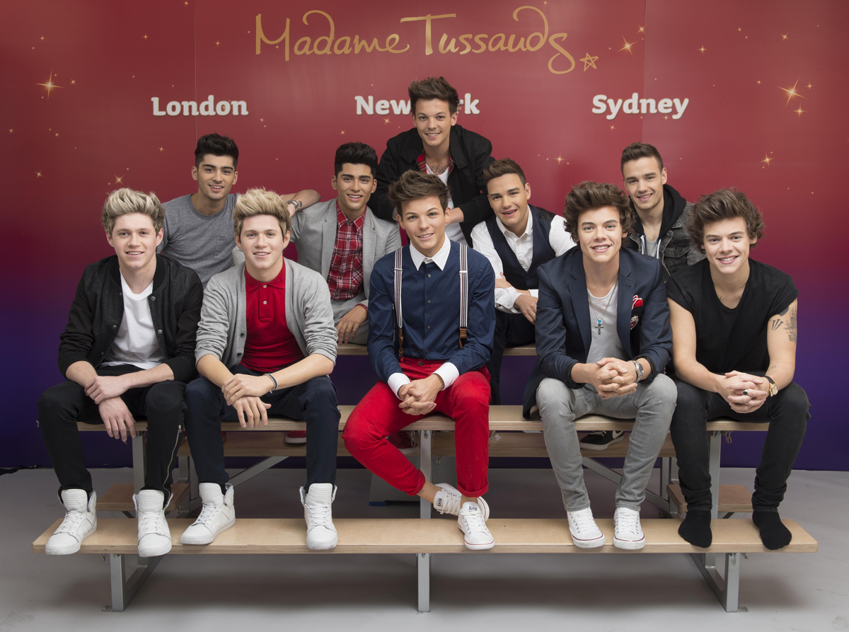 "I One Direction al museo delle cere ""Madame Tussauds"" di Londra"