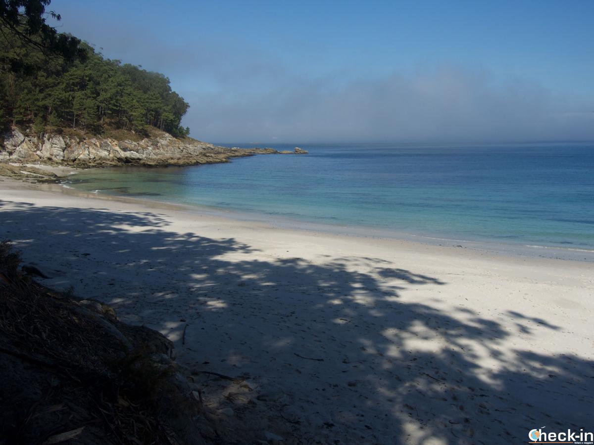 La spiaggia di Figueiras nelle isole Cíes, chiamata pure Playas de los Alemans, è quella prediletta dai nudisti
