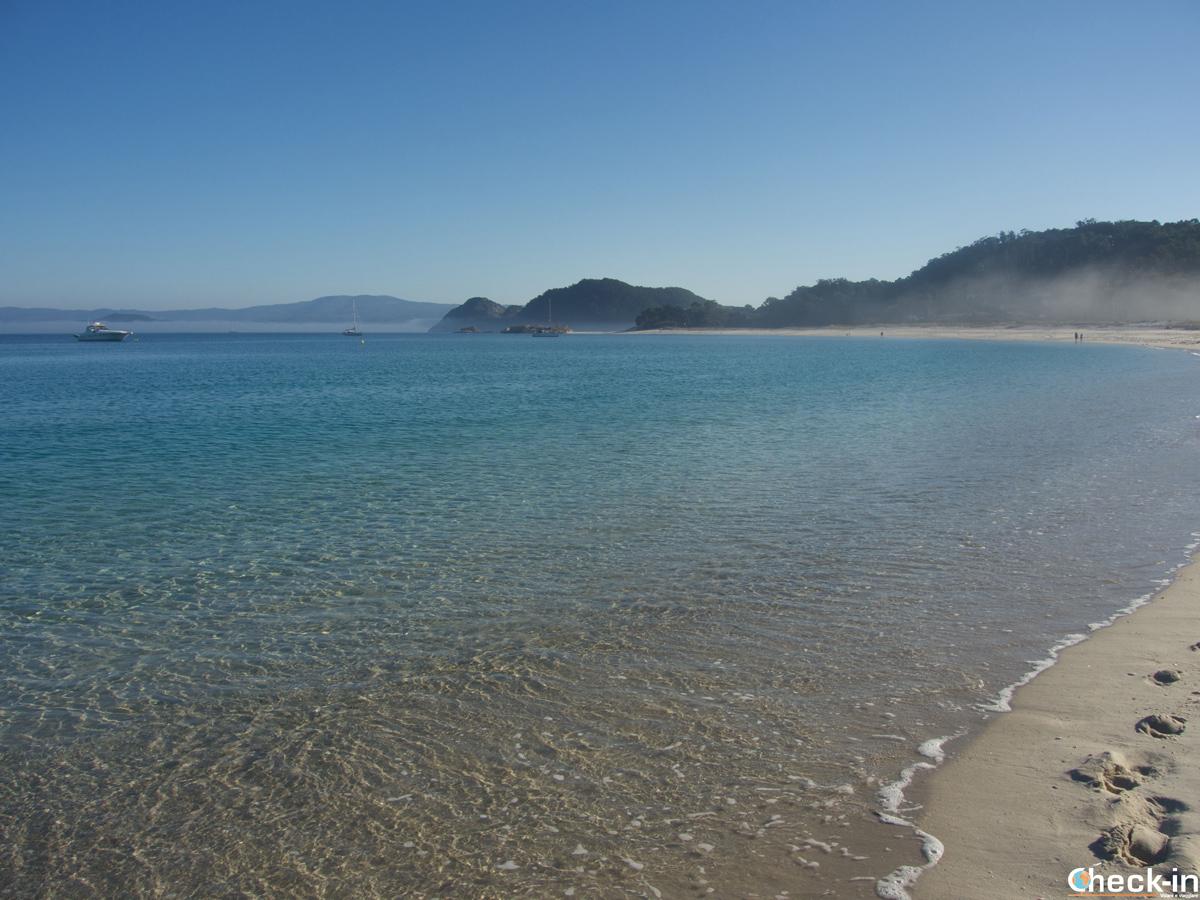 Playa de Rodas nelle isole Cíes, votata come la spiaggia più bella del mondo