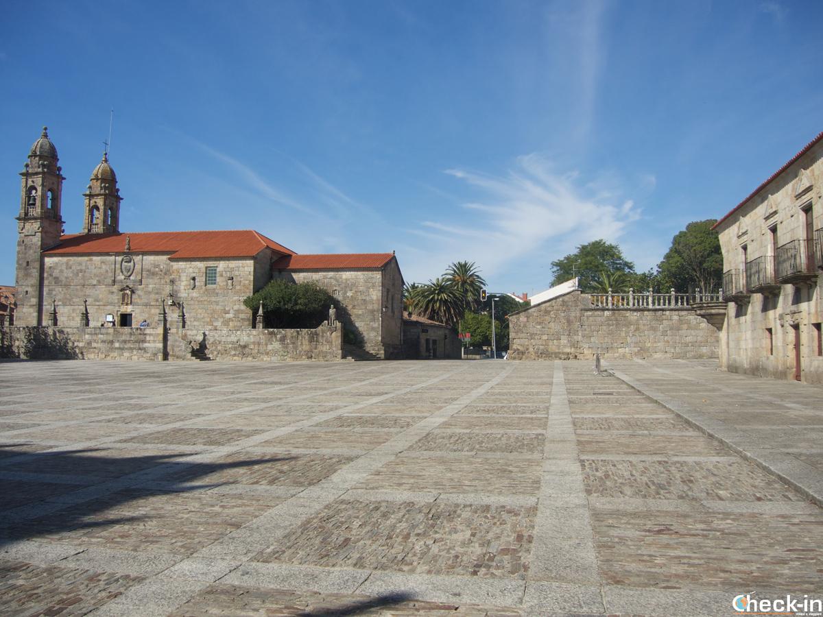 Plaza de Fefiñáns a Cambados, patria del vino Albariño - Galizia, Spagna