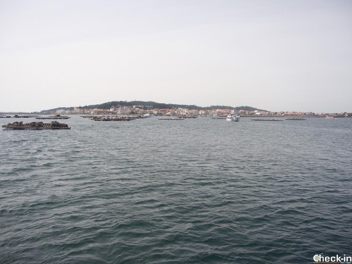 Panorama di O Grove dalla ría di Arousa - Galizia, Spagna