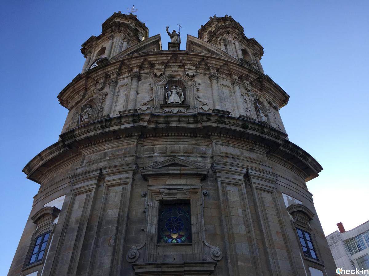 La Iglesia de A Peregrina nel centro medievale di Pontevedra, Spagna