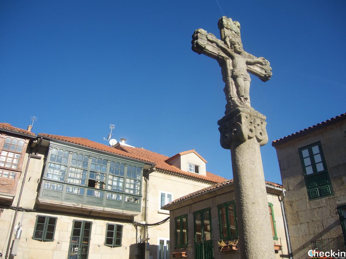 Praza da Leña a Pontevedra - Galicia, Spagna