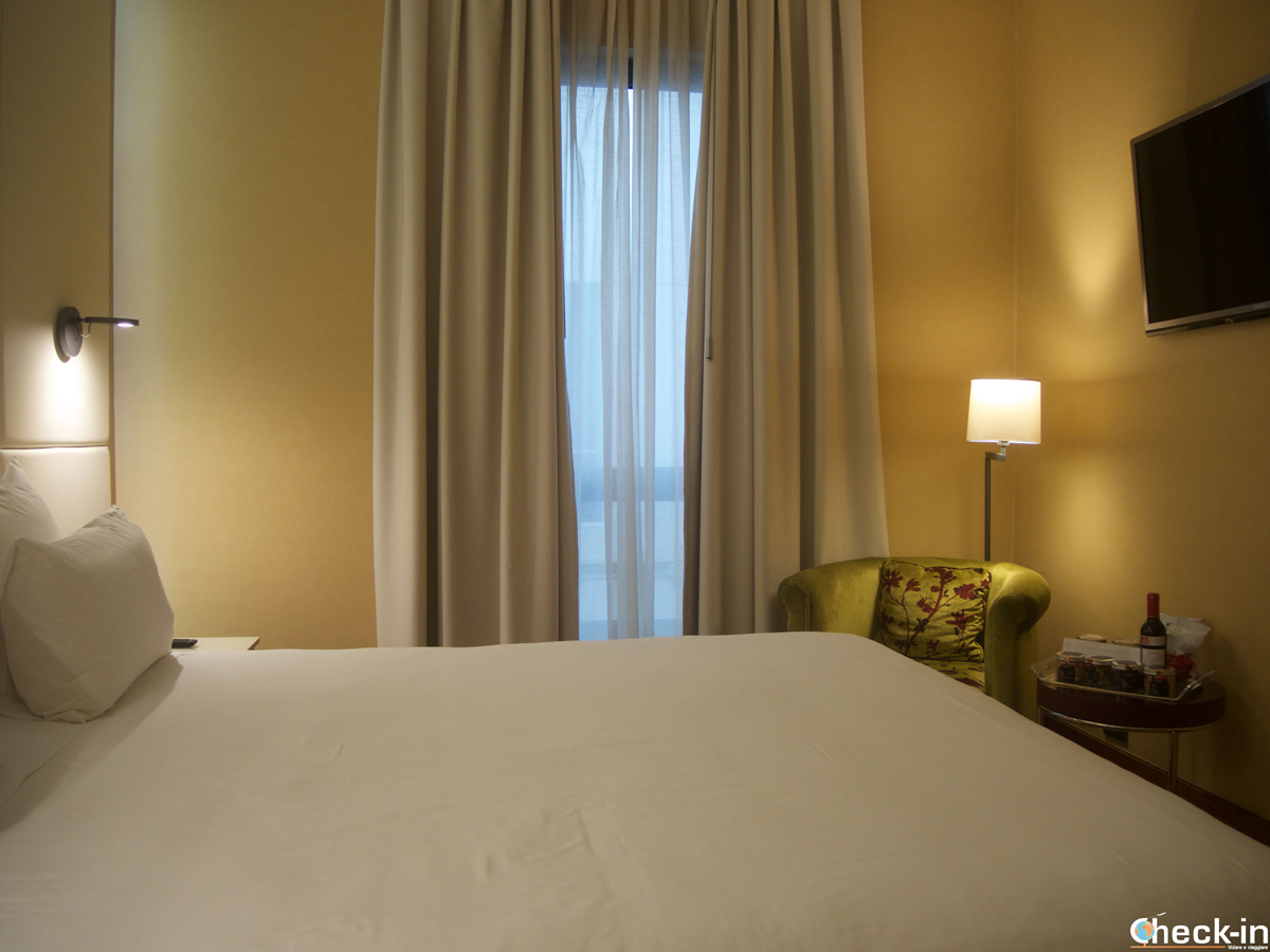 Habitación doble del Hotel NH Collection de Vigo, España