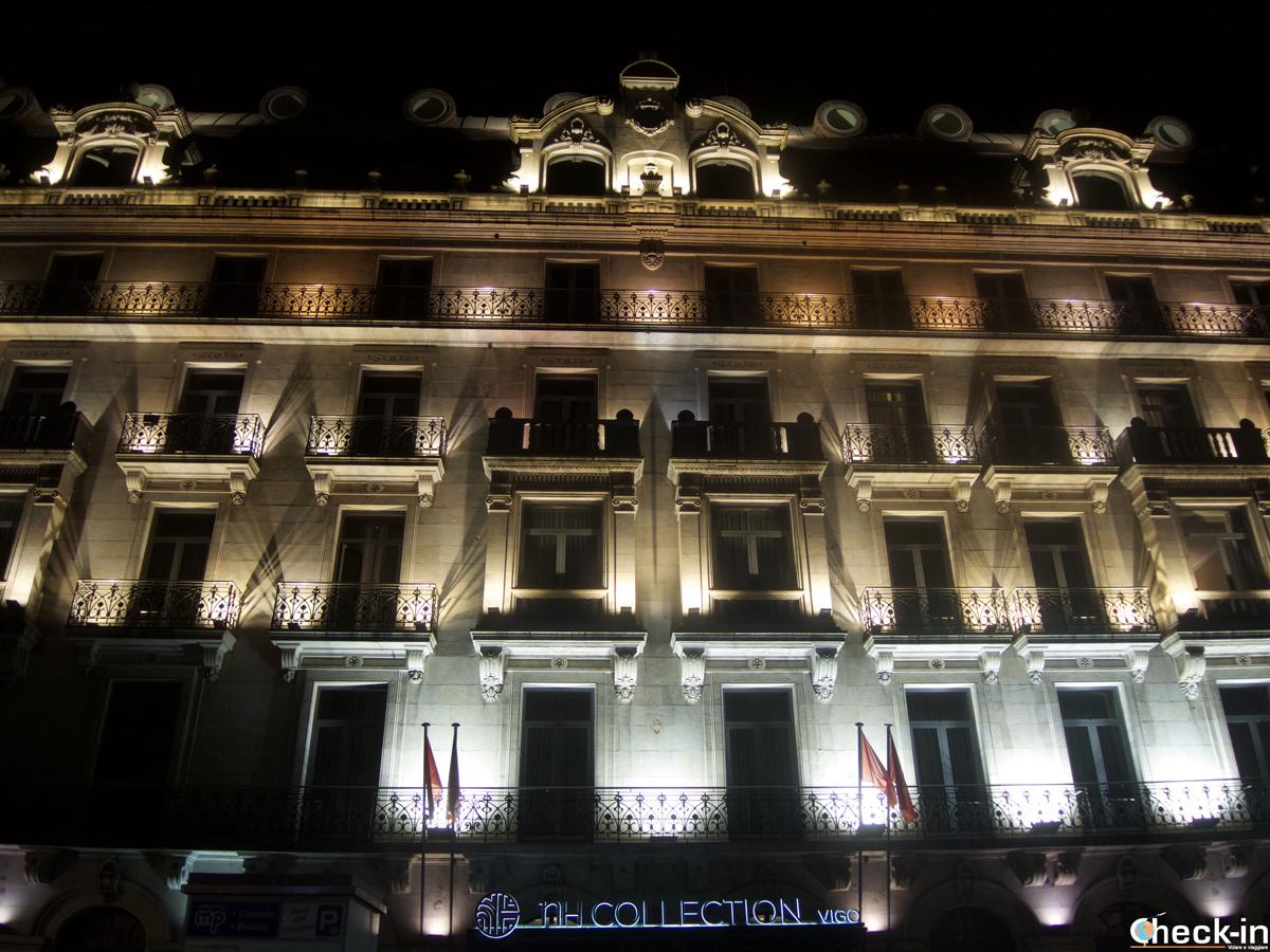 Il palazzo che ospita l'Hotel NH Collection di Vigo - Galizia, Spagna