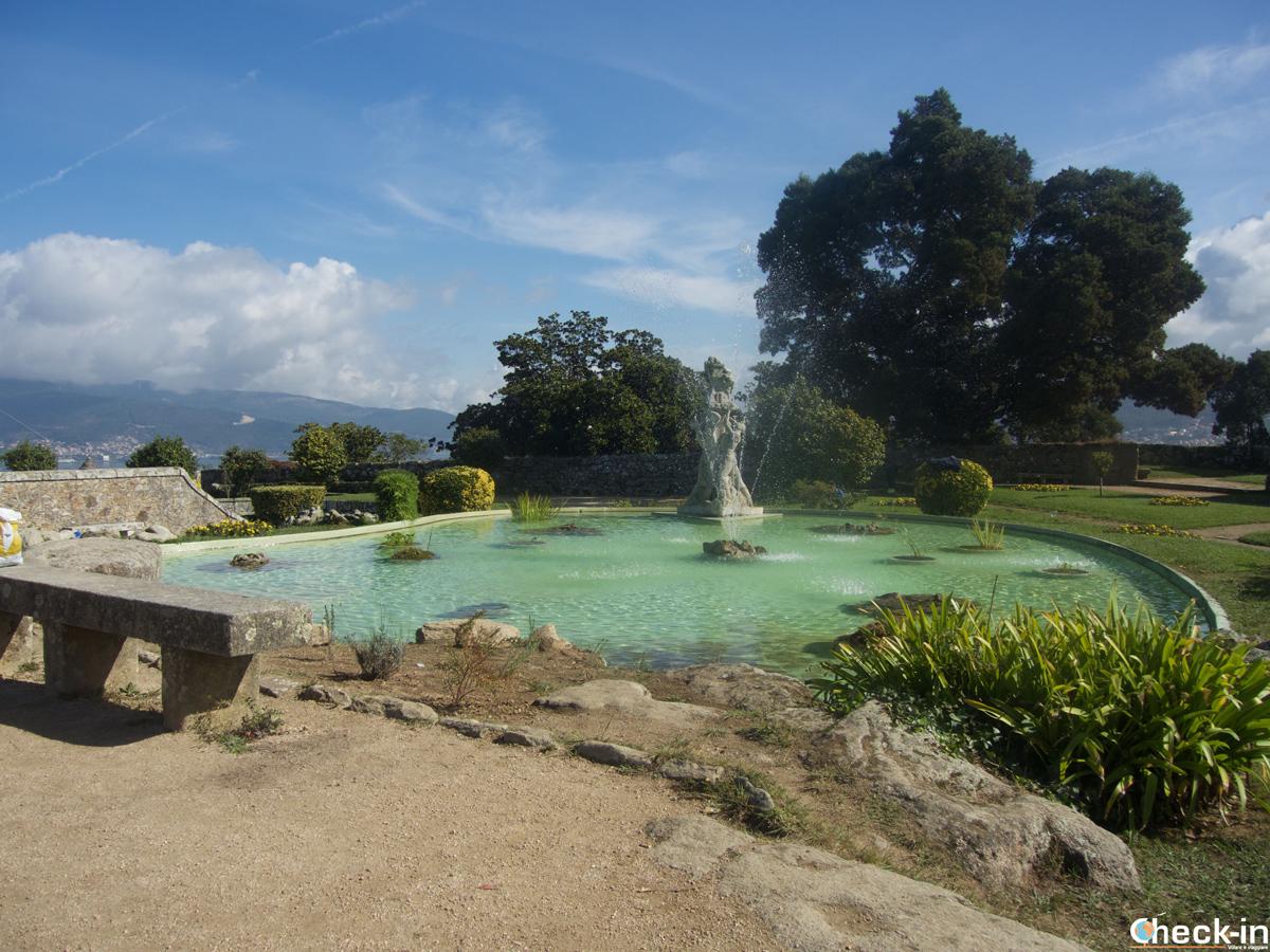 El jardín en el Monte O Castro a Vigo - Galicia, España del norte