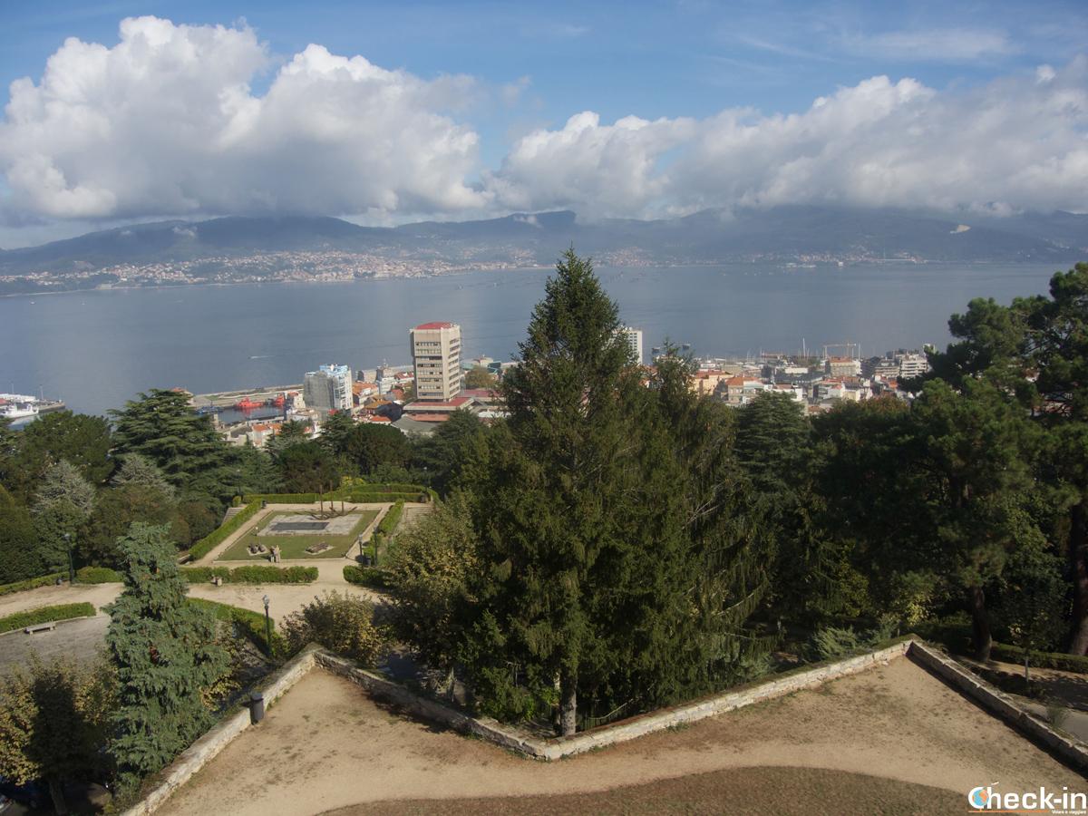 Mirador del Monte O Castro con vista sobre Vigo - Galicia, España