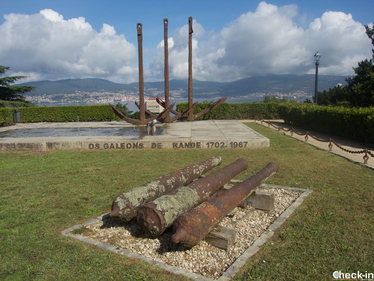 Monumento dedicato alla battaglia di Rande situato sulle pendici della collina di O Castro a Vigo - Galizia, Spagna