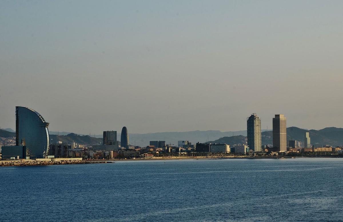 Scorcio del quartiere Barceloneta di Barcellona