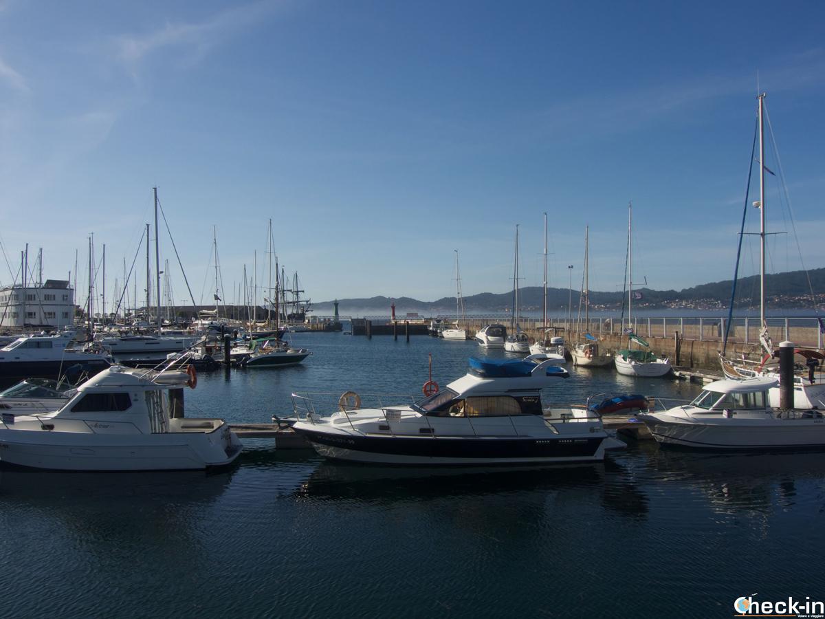 Vistazo del puerto de Vigo en su ría - Galicia, España