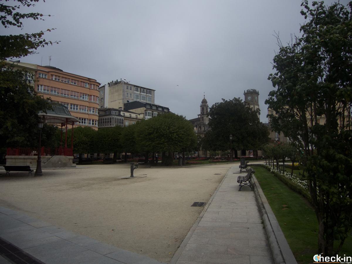 La Plaza Mayor de Lugo - Galicia, España