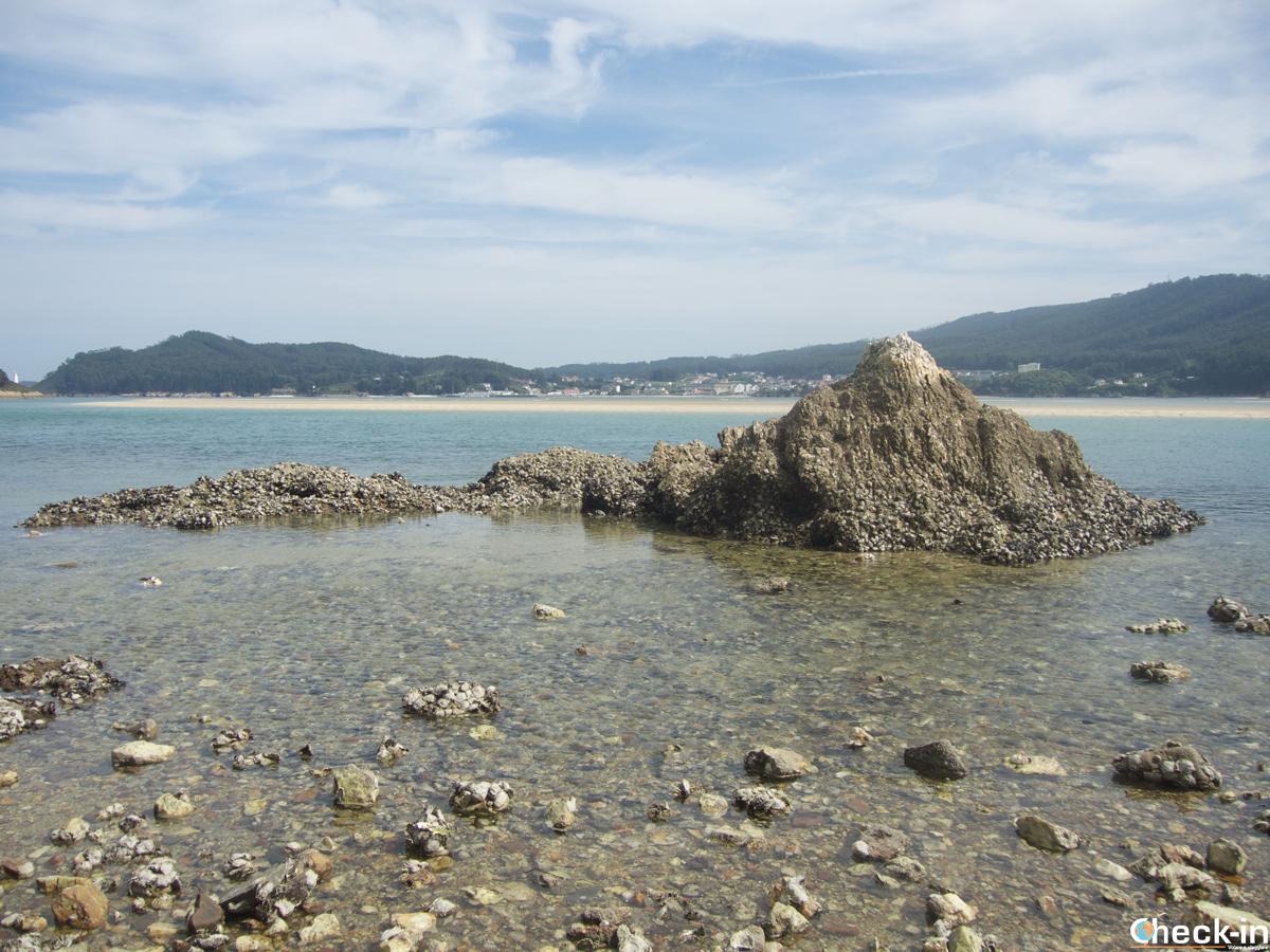 La ría de O Barqueiro con marea baja - Galicia, España