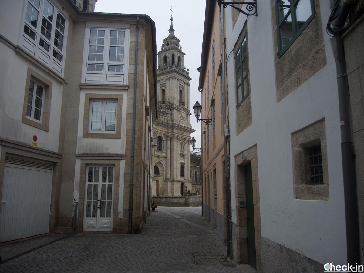 Scorcio del centro medievale di Lugo e della Cattedrale