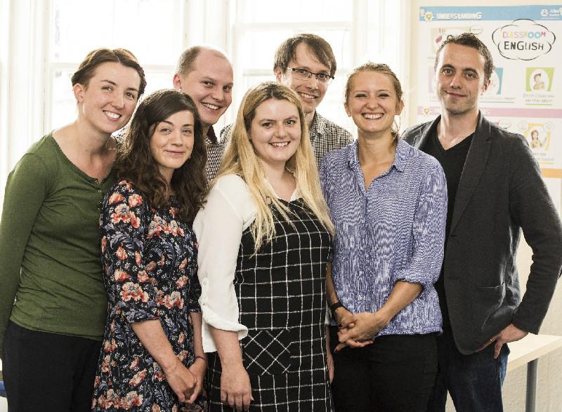 Il team della Alba English School di Edimburgo
