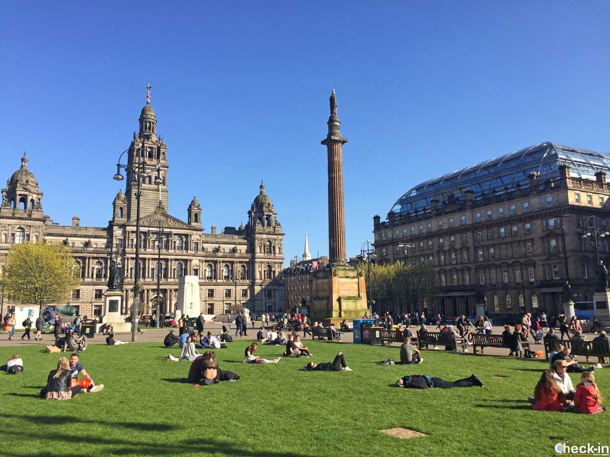 Luoghi da non perdere nel centro di Glasgow: George Square
