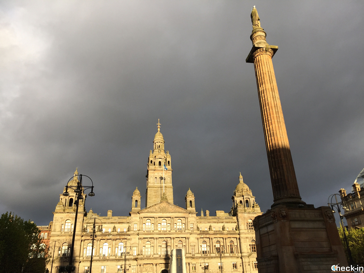 George Square e City Chambers - Glasgow, Scozia