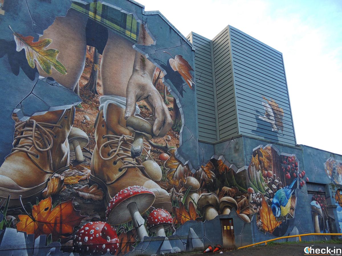 I murales nell'East End di Glasgow (Scozia)