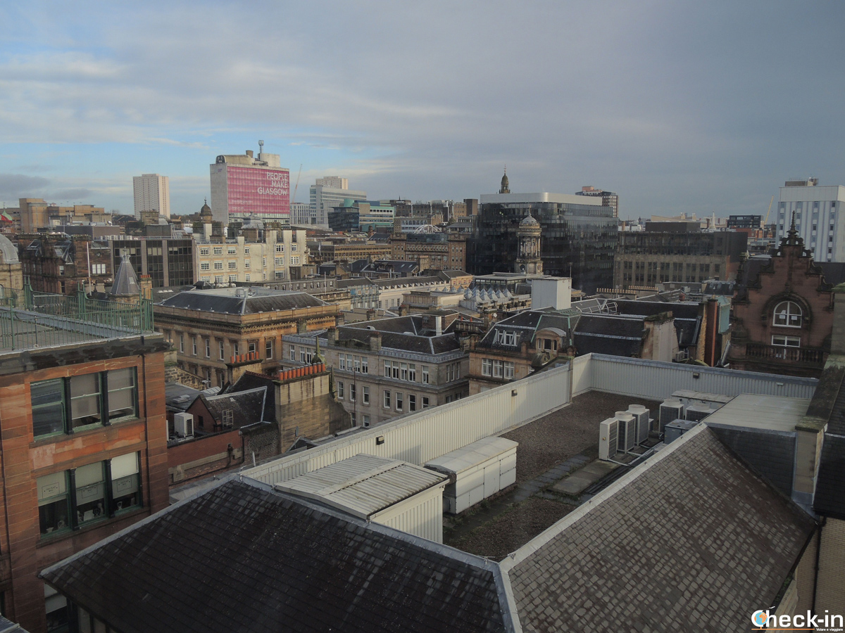 Vista a 360° di Glasgow da The Lighthouse