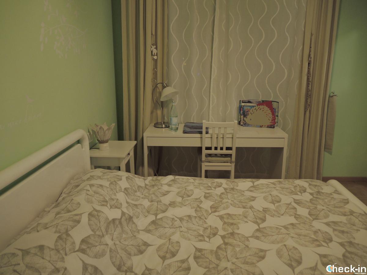 """Camera da letto matrimoniale al b&b """"da Rosemarie"""" a Levico Terme, vicino alla stazione ferroviaria"""