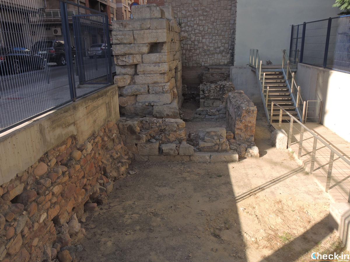 Resti del circo romano nel centro storico di Sagunto (Spagna)