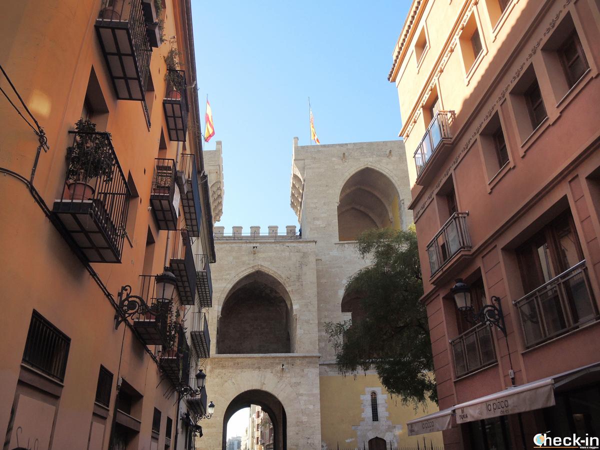 Le torri di Quart nel nucleo medievale di Valencia