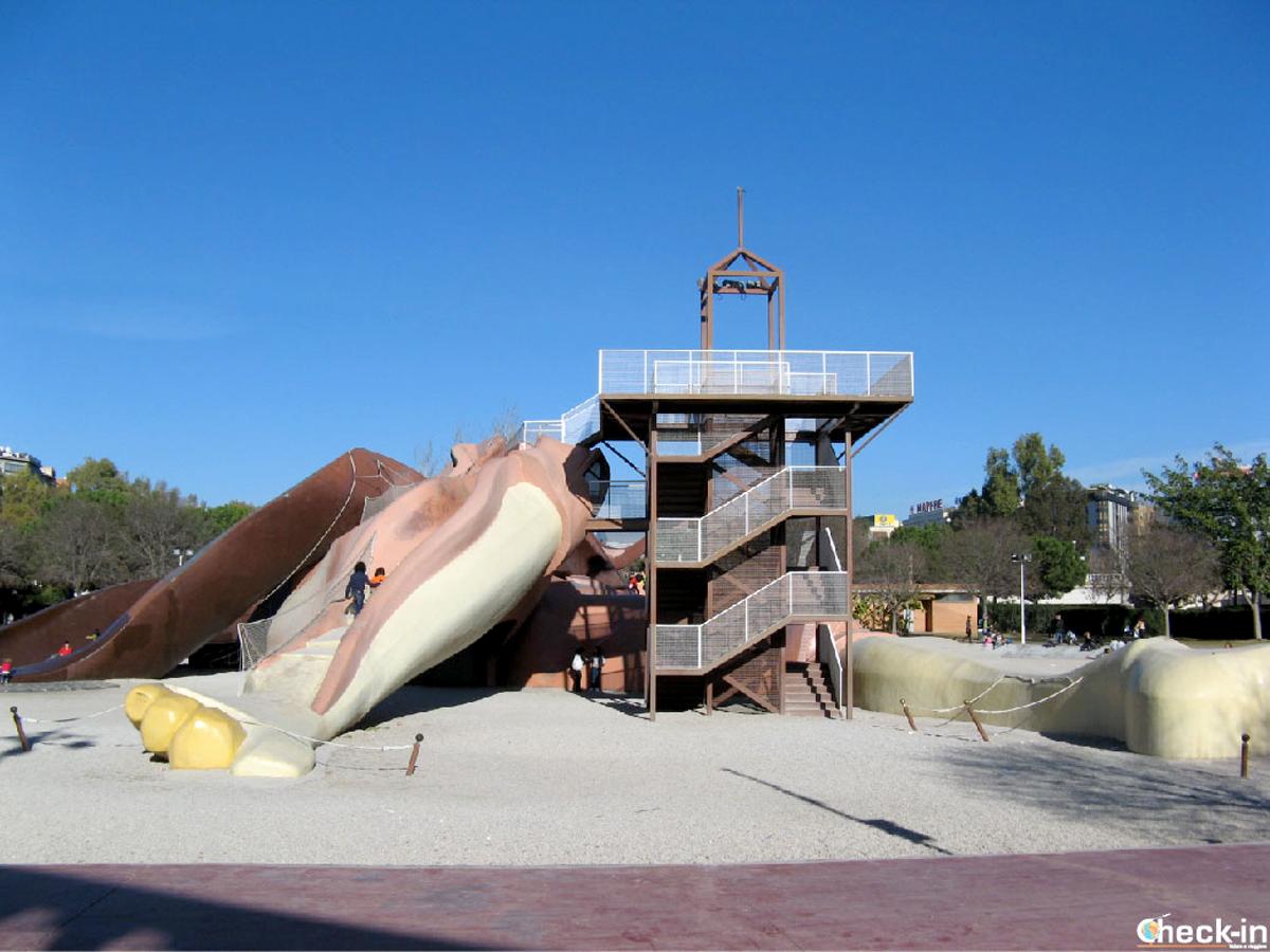 Il Gulliver, l'attrazione per i bambini nei giardini del Turia di Valencia