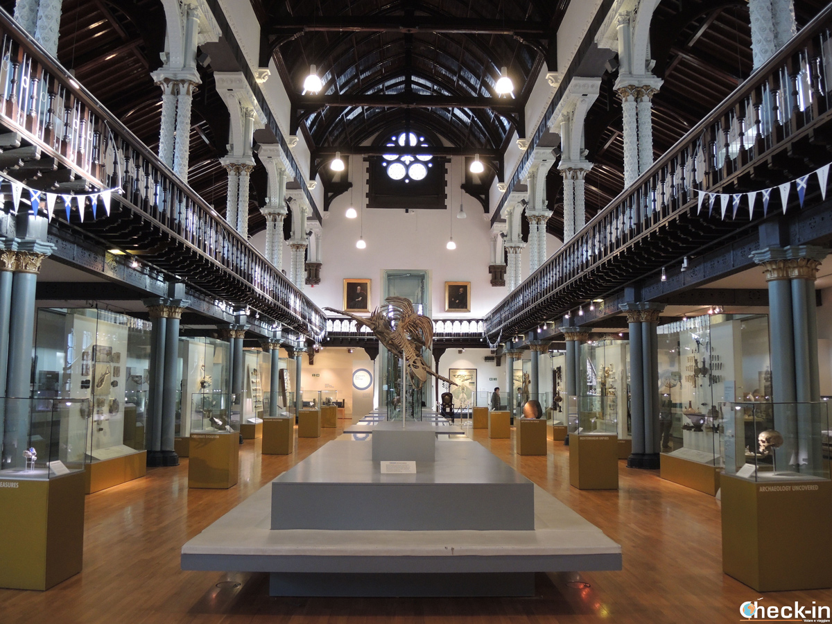 L'Hunterian Museum all'interno dell'Università di Glasgow (Scozia)