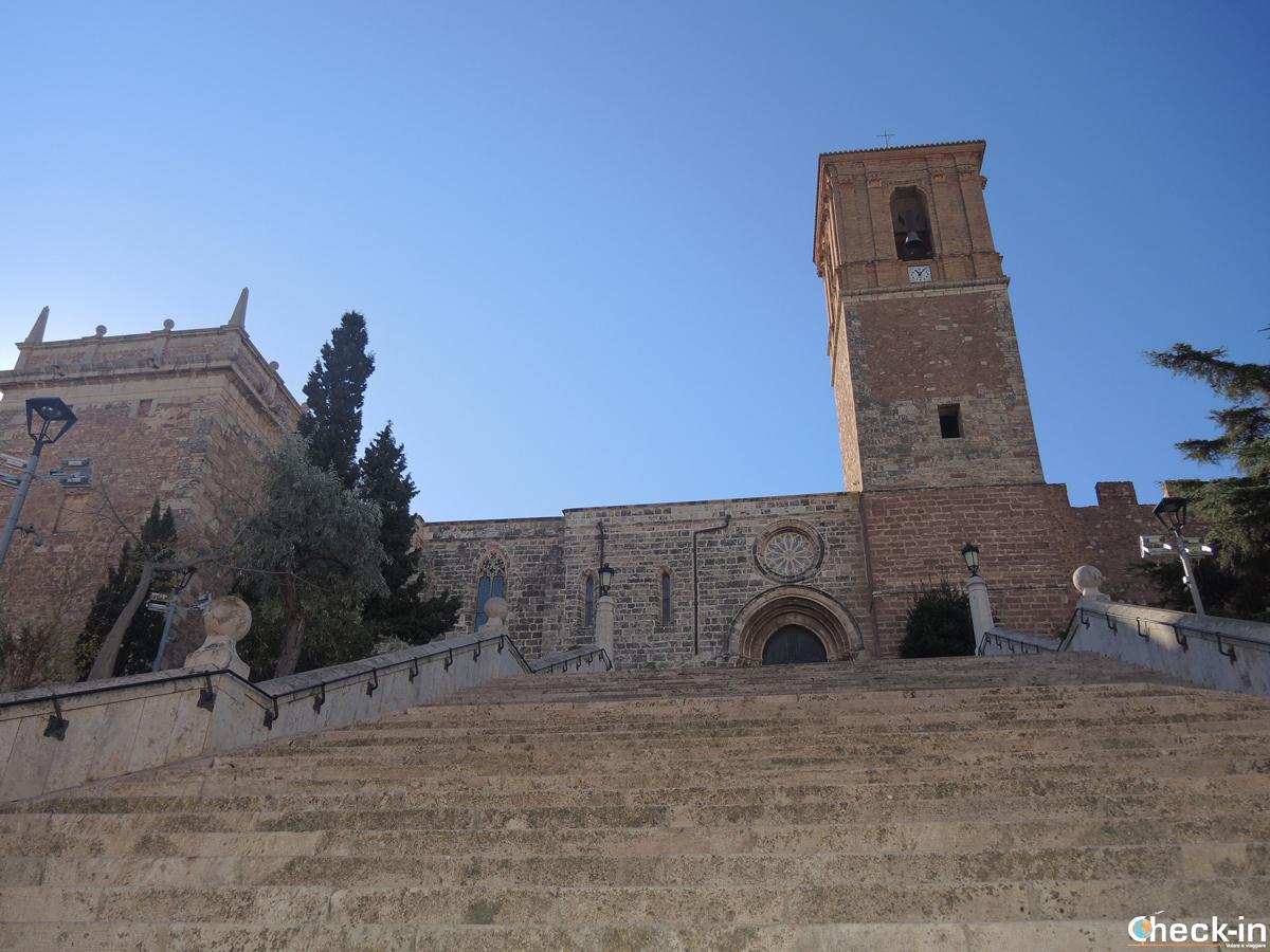 Scalinata della Chiesa del Real Monasterio di Santa María de El Puig in Spagna