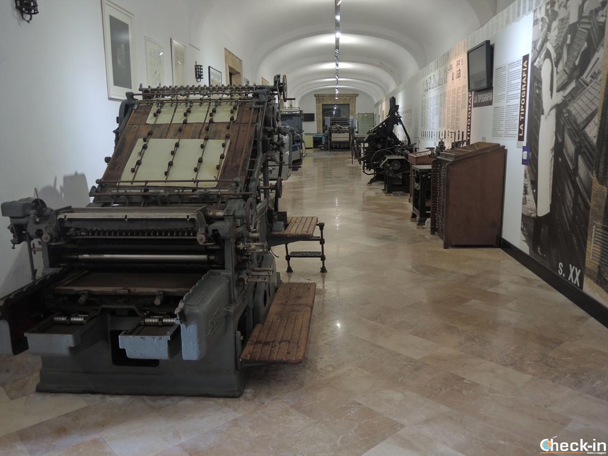 Esposizione di stampanti al Museo de Imprenta a El Puig - Provincia di Valencia, Spagna