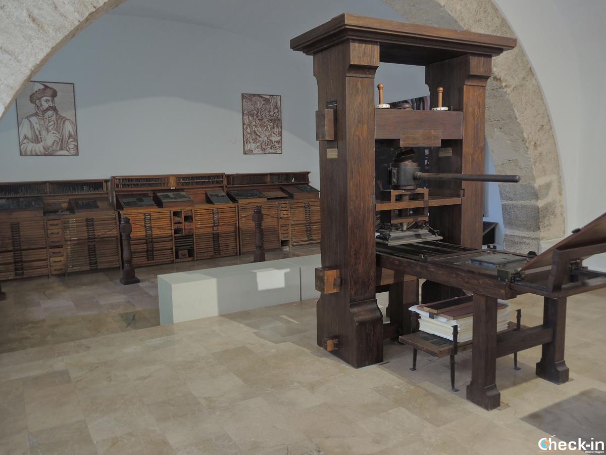 Museo Imprenta nel Real Monasterio de S. María del Puig - Valencia, Spagna