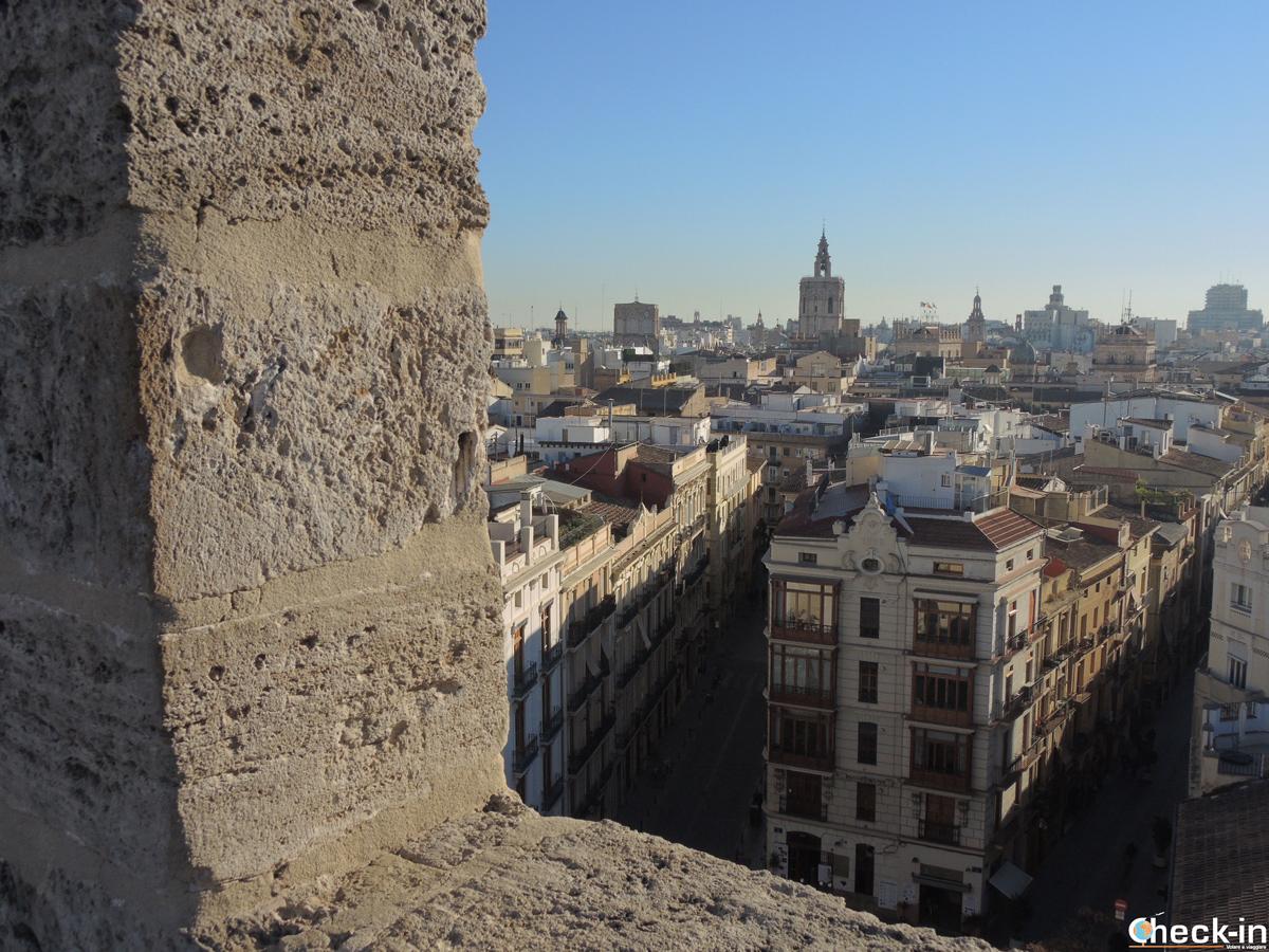 Vista su Valencia dalla Torre Serranos