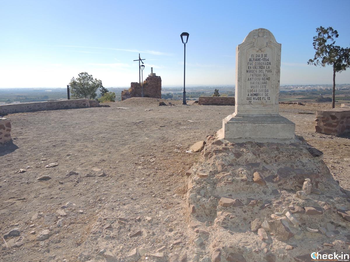 Le rovine del Castello di Jaume I a El Puig - Valencia, Spagna