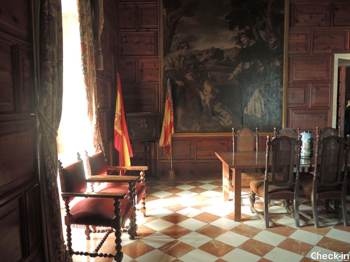 La sala dei Sovrani Spagnoli nel Real Monasterio di S. María del Puig