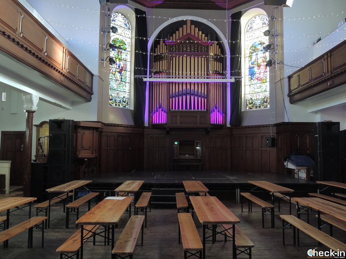 La sala da concerti del St Luke a Glasgow, Scozia