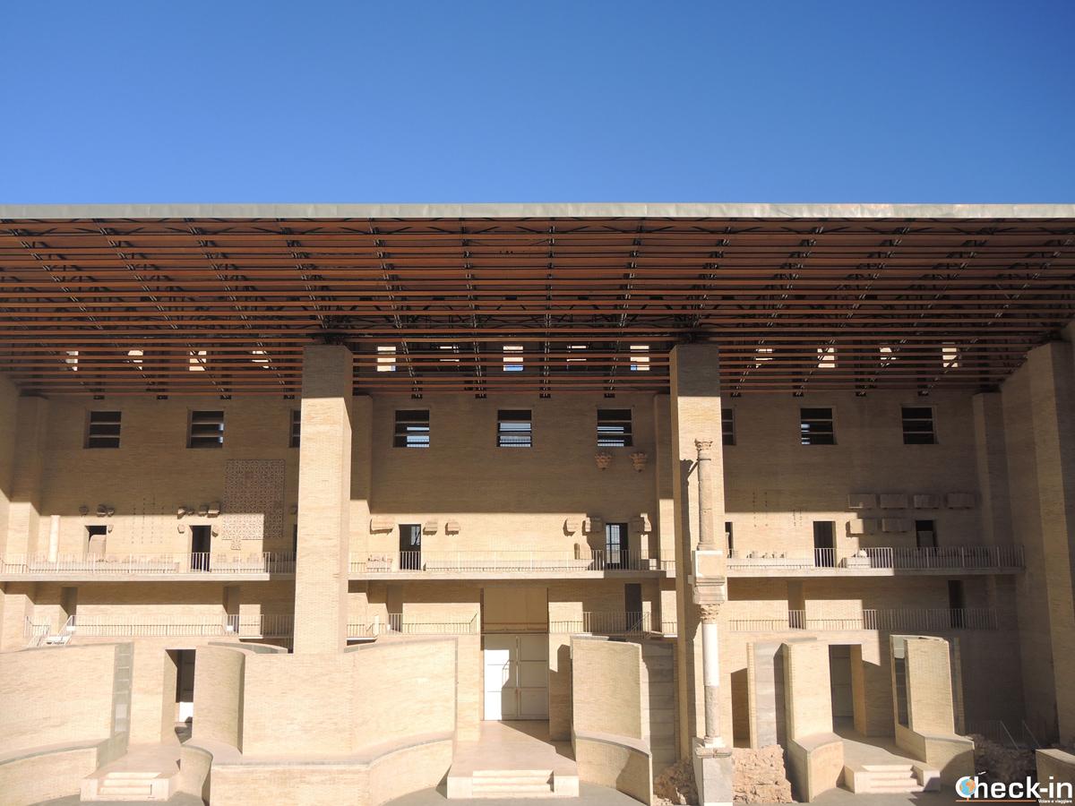 Il palco del Teatro Romano di Sagunto (Spagna)