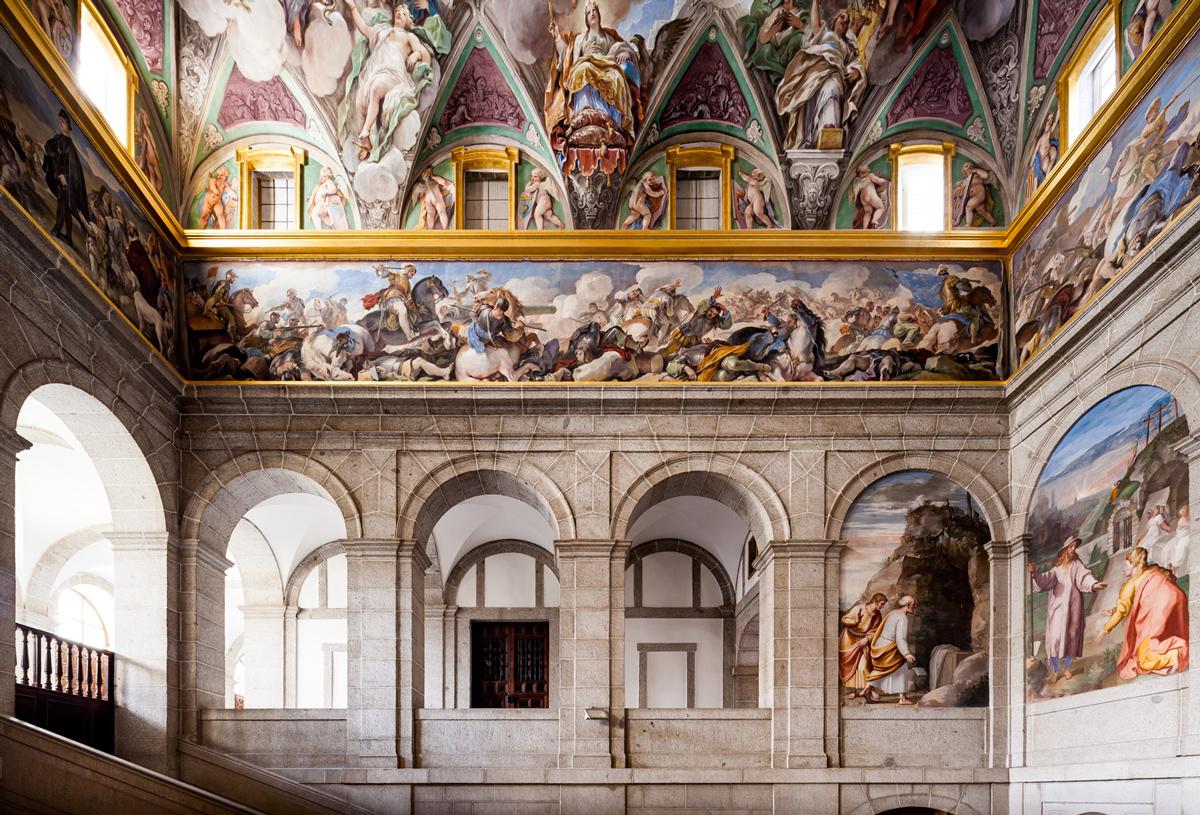 Gli affreschi del Monastero de Escorial in provincia di Madrid (Spagna)