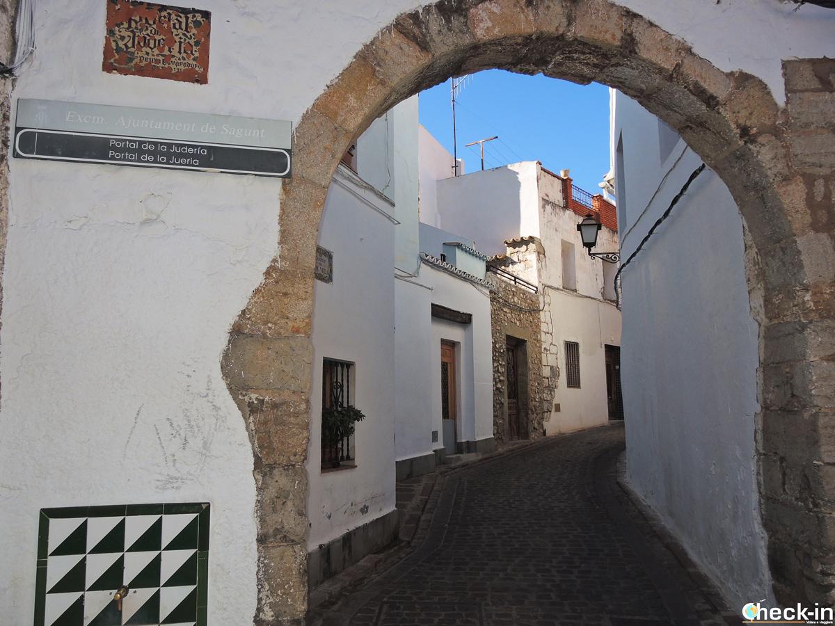 El arco de acceso a la Judería en Sagunto