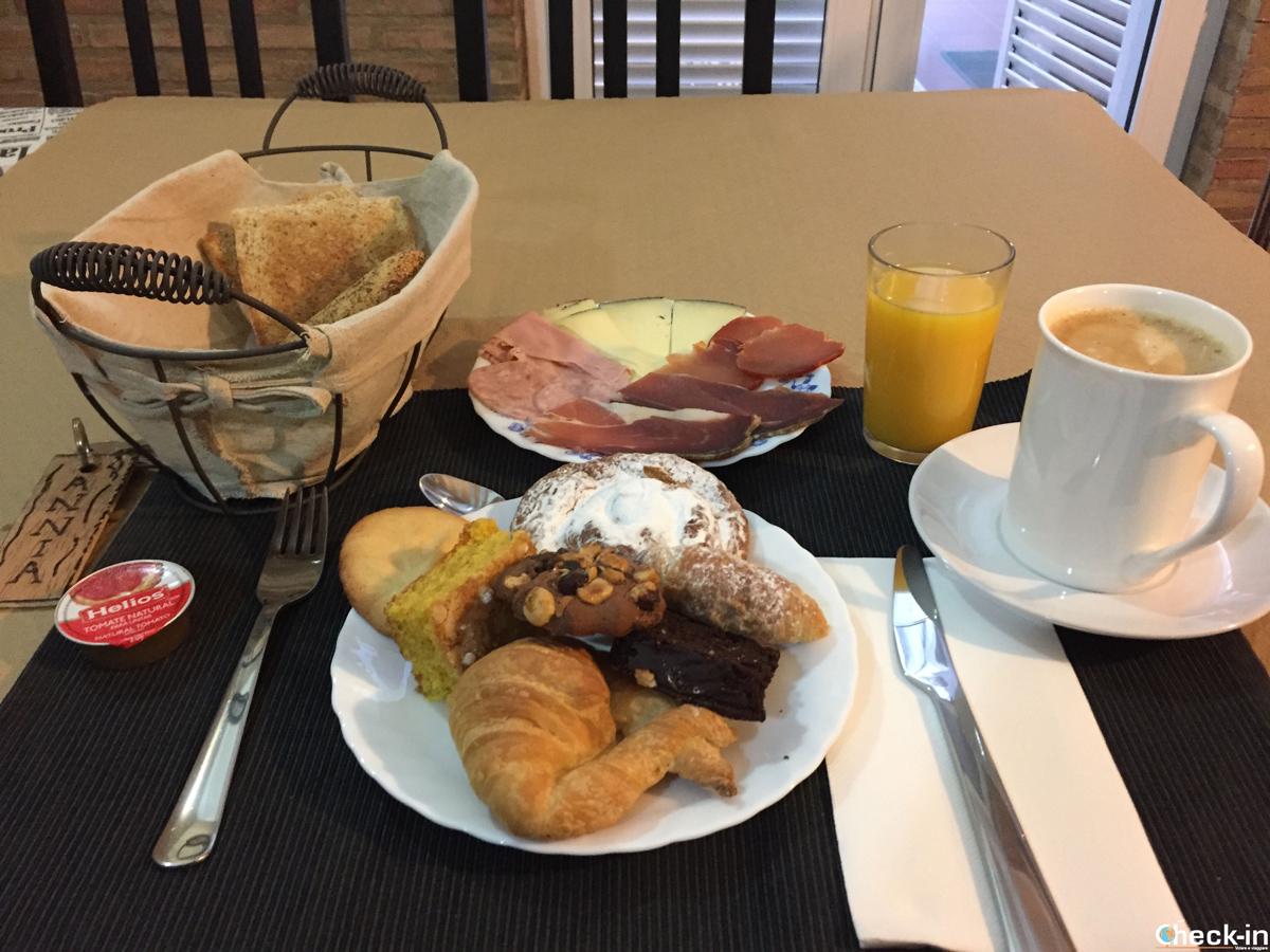 El desayuno al B&B Domus Atilia de Sagunto, en provincia de Valencia