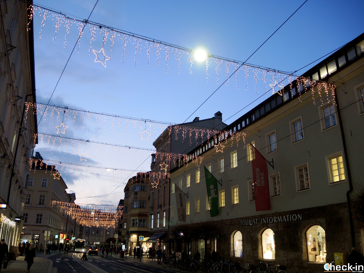 Le luminarie per le vie di Innsbruck - Tirolo, Austria