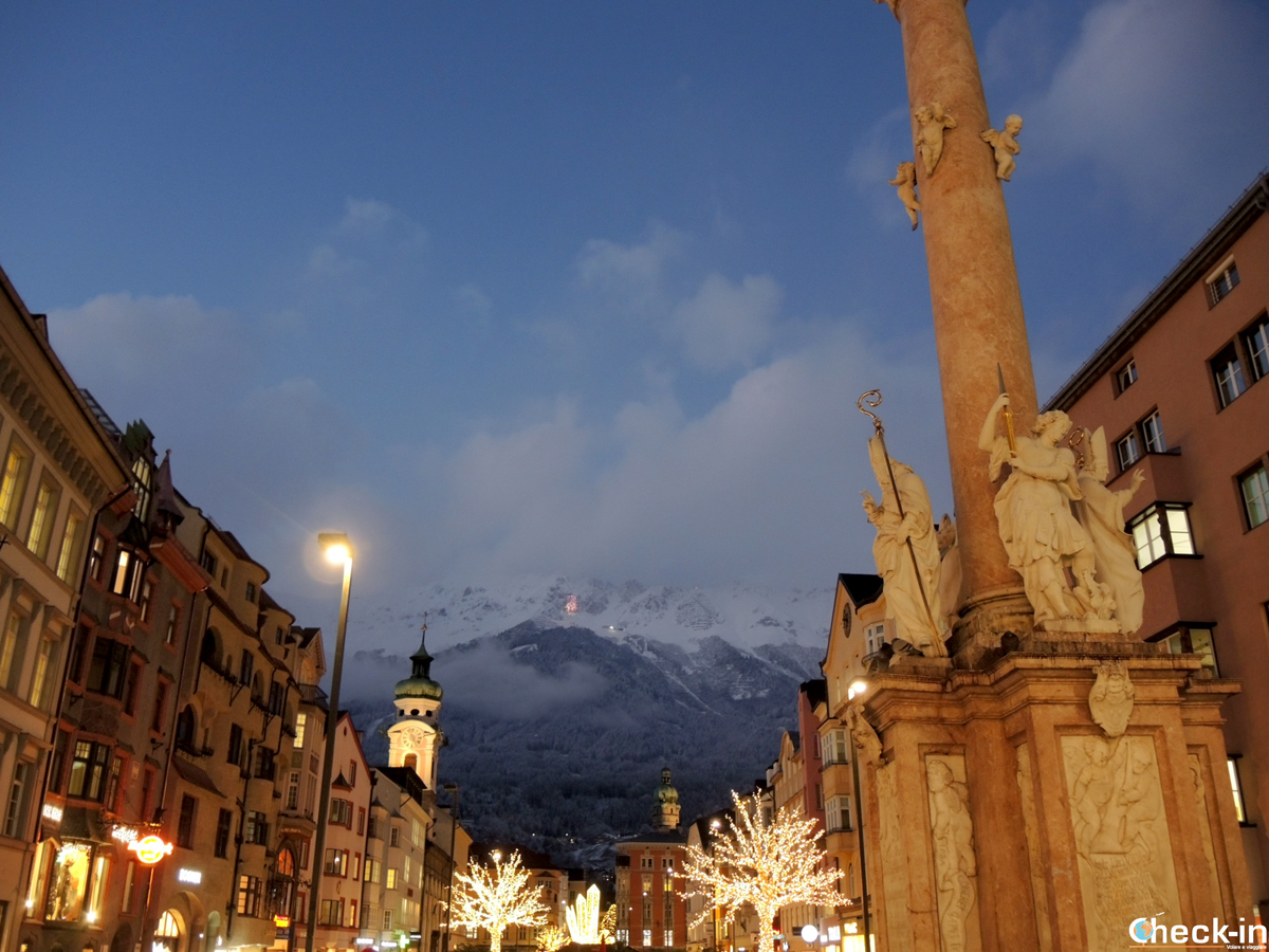 Le luminarie in Maria Theresien Straße a Innsbruck