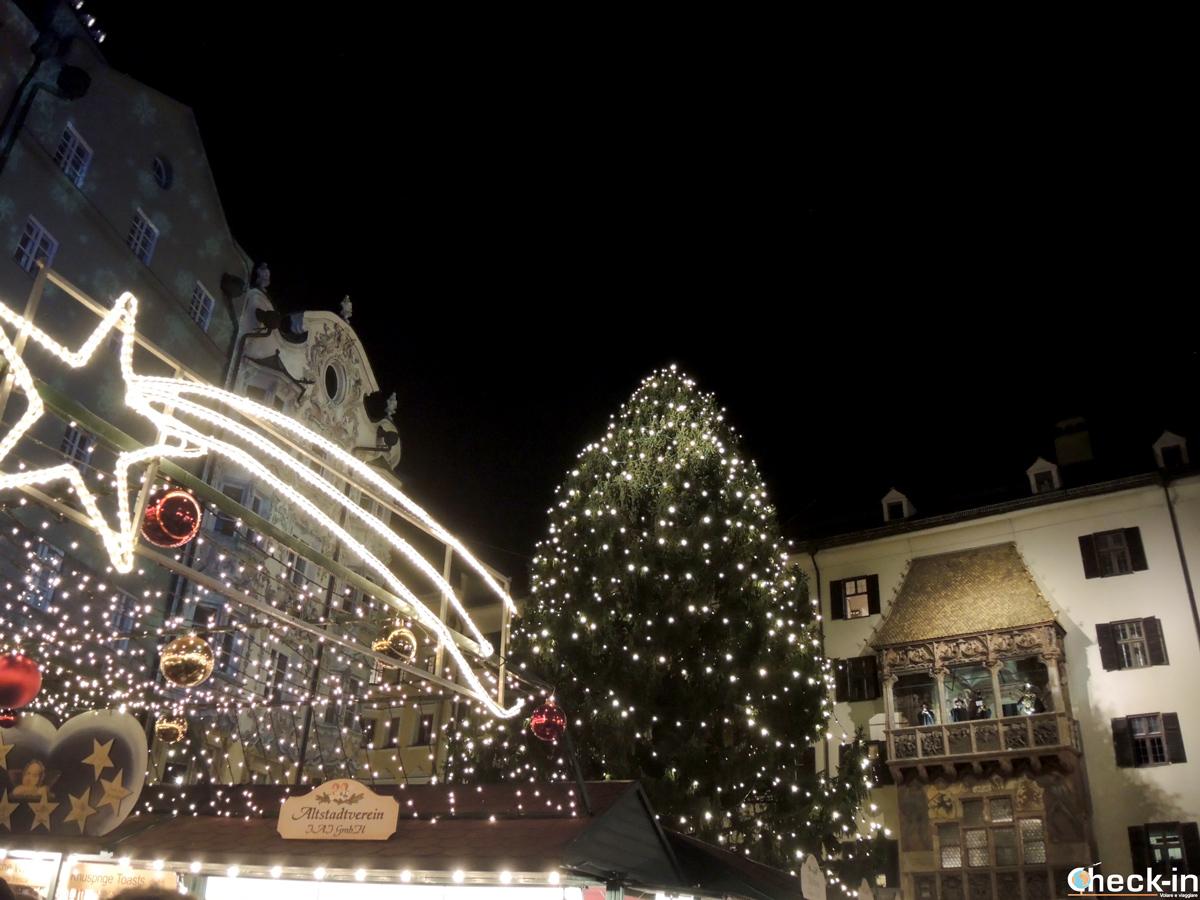 Luminarie e concerto di Natale dal Tettuccio d'oro a Innsbruck