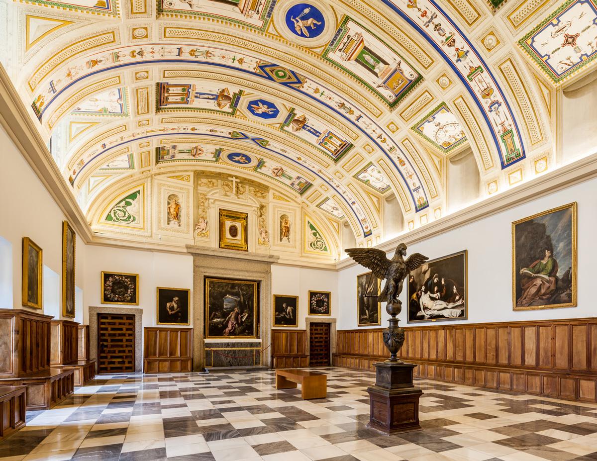 Le sale capitolari del Monastero de El Escorial - Comunidad de Madrid, Spagna