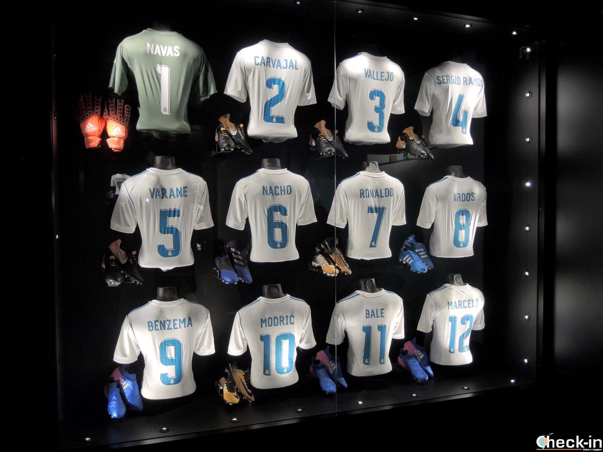 Le maglie dei giocatori attuali del Real Madrid