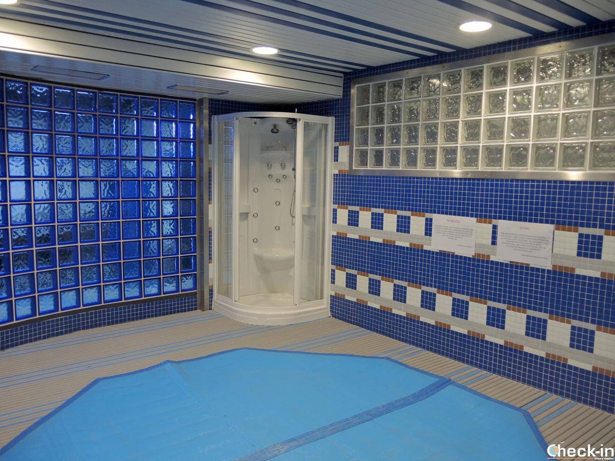 Piscina e vasca idromassaggio negli spogliatoi del Bernabéu - Tour dello stadio del Real Madrid